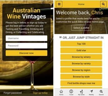 Australian Wine Vintages App